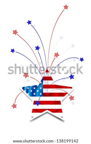 Independence Day card or background. July 4