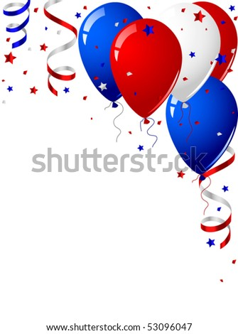 Independence day celebration card - stock vector