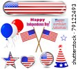 Independence Day. Collection of design elements. eps10 Vector. - stock vector