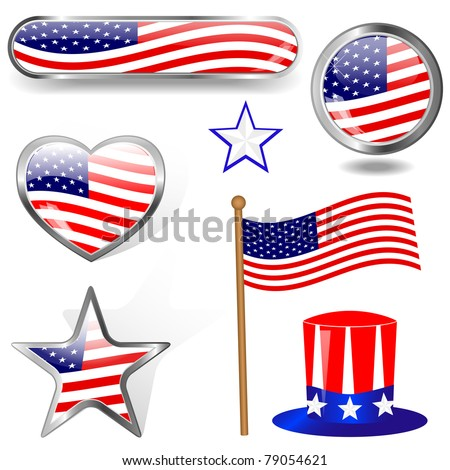 Independence Day. Collection of design elements. eps10 Vector.