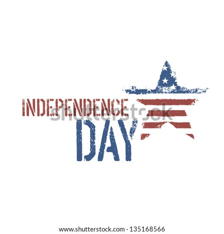 Independence day composition. Vector, EPS10. - stock vector