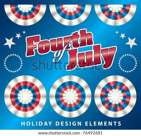 Independence Day design elements - stock vector