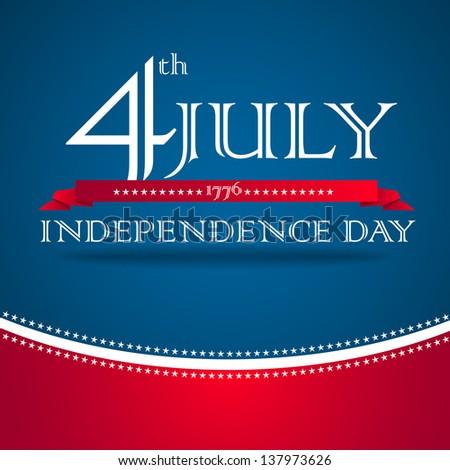 Independence day design with text - vector - stock vector