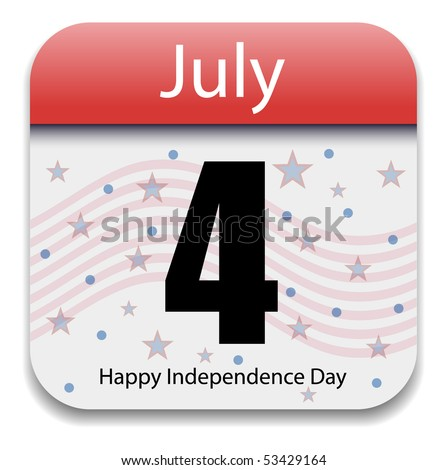 Independence Day - Fourth July Calendar Date - stock vector