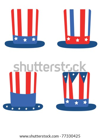 Independence Day set hats,vector