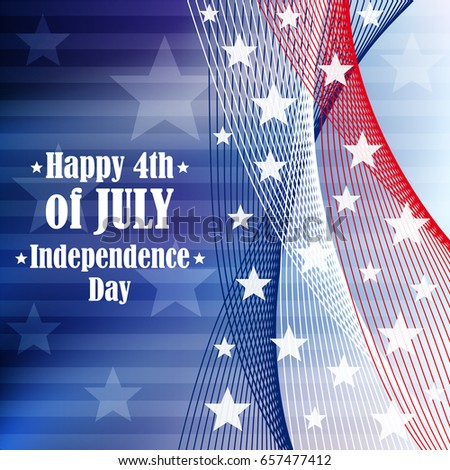 Independence day 4 th of july background. Vector illustration.