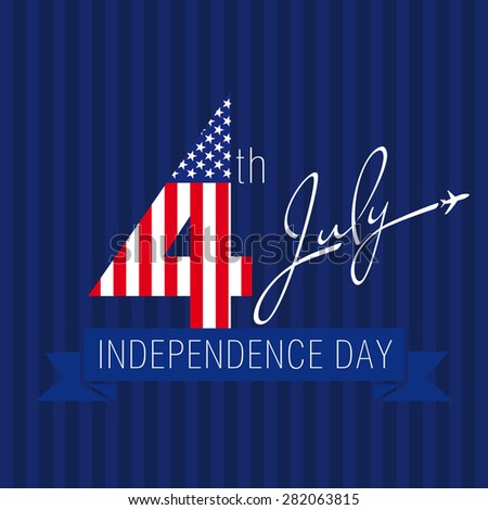 Independence day usa vector card 4 stock vector 282063815 shutterstock independence day usa vector card 4 th of july traditional celebrating greetings united states m4hsunfo Image collections