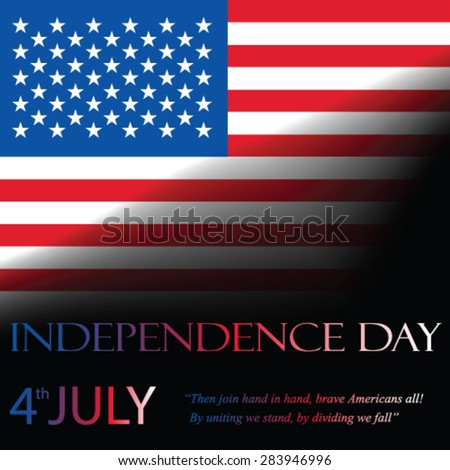 Independence day, vector - stock vector