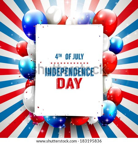 Independence day - vector background with copy-space  - stock vector