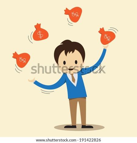 Independent of financial control - stock vector