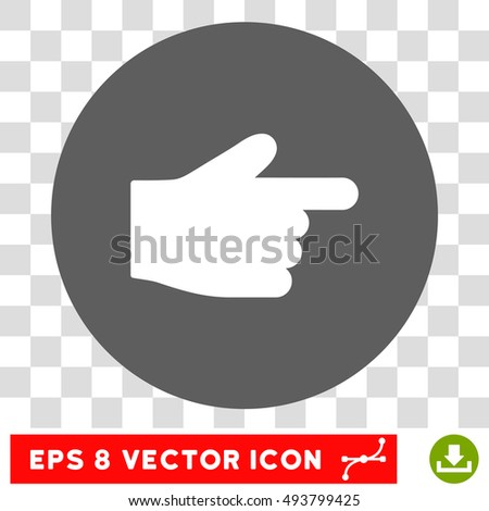 Index Finger Round Icon Vector Eps Stock Vector 493799425 Shutterstock