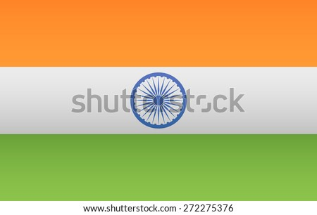 India Flag - stock vector