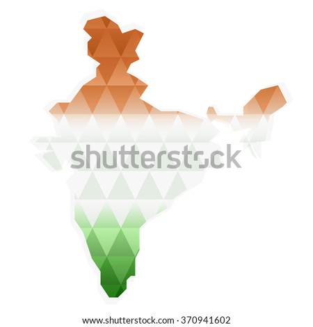 India flag geometric background.