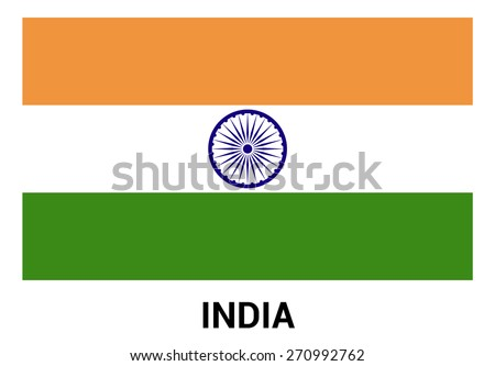 India Flag isolated vector in official colors and Proportion Correctly - stock vector