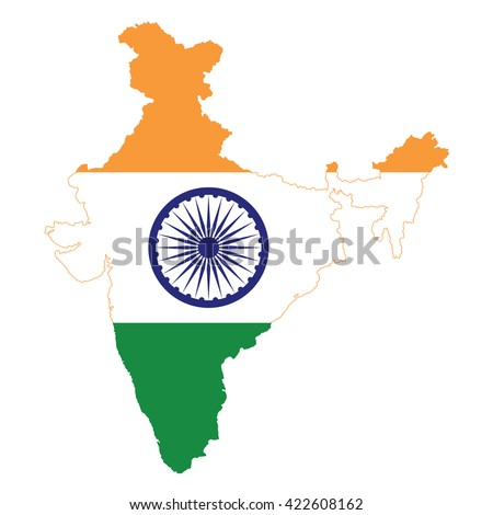 India Map Stock Vector Shutterstock - India map