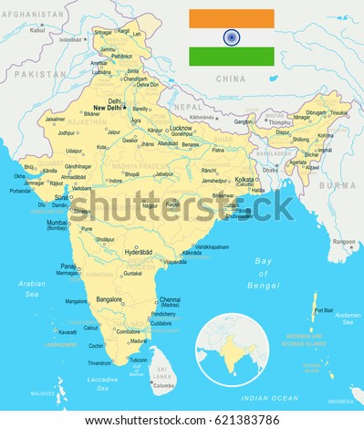 Bangladesh map stock images royalty free images vectors india map and flag highly detailed vector illustration gumiabroncs Gallery