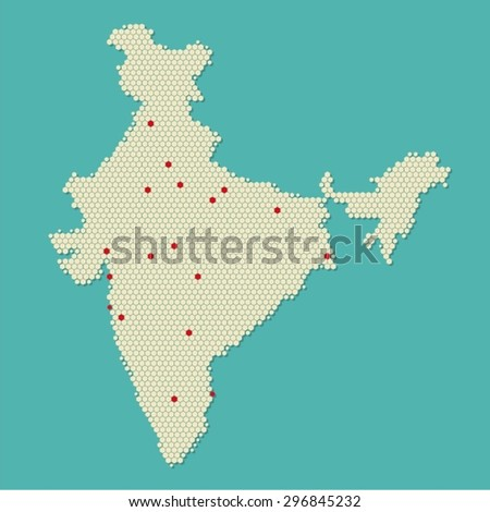 India Modern Pixel Map
