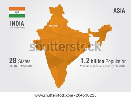 India world map pixel diamond textureworld vectores en stock india world map with a pixel diamond texture geography gumiabroncs Images