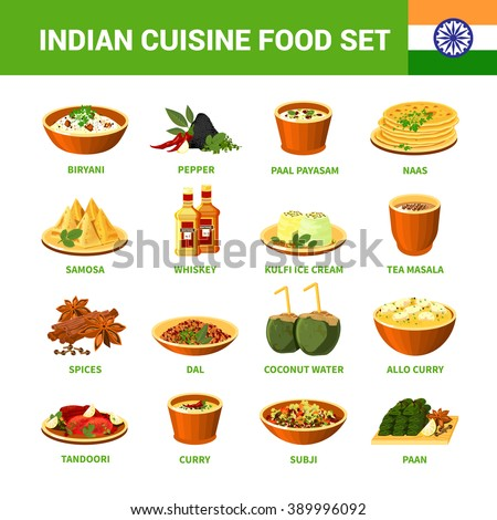 Indian food stock images royalty free images vectors - Different types of cuisines in the world ...