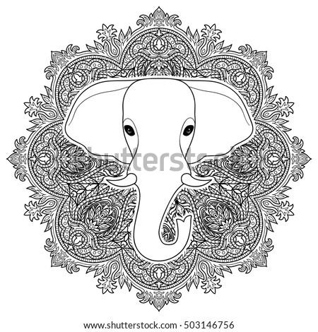 detailed hand drawn illustration octopus mandalalight stock vector 473918107 shutterstock. Black Bedroom Furniture Sets. Home Design Ideas