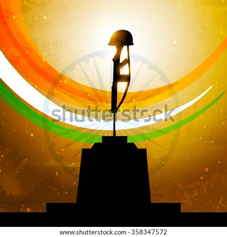 Indian flag amar jyoti stock vector royalty free 358347572 indian flag with amar jyoti thecheapjerseys Images