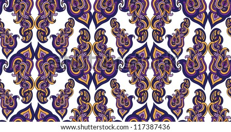 Indian floral vector seamless pattern abstract wallpaper background