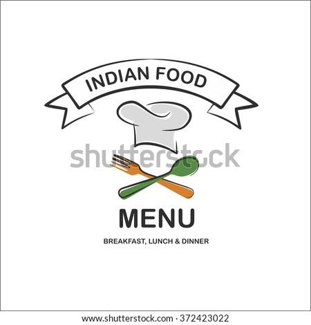 Indian food menu - stock vector