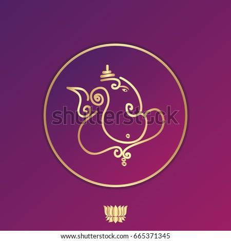 Indian god ganesha vector illustration design stock vector hd indian god ganesha vector illustration design auspicious hindu symbol for wedding invitation backgrounds stopboris Images