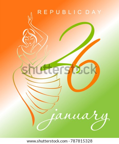 Indian happy republic day greeting card stock vector 787815328 indian happy republic day greeting card colors of the indian national flag indian women m4hsunfo