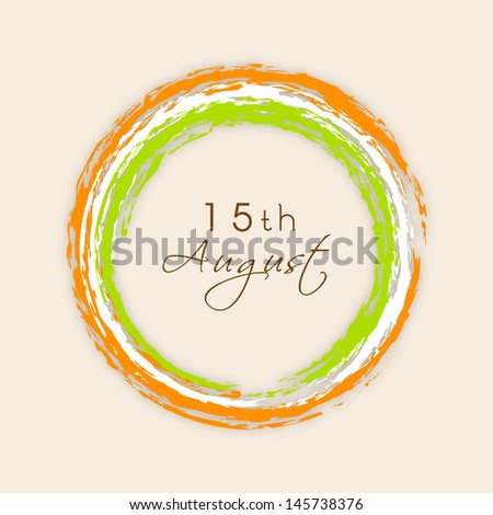 Indian Independence Day background. - stock vector