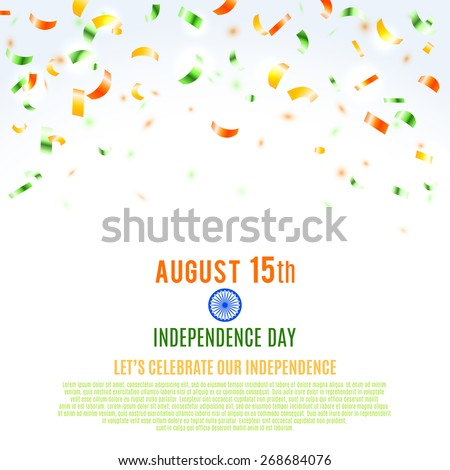 Indian Independence Day background. Vector illustration, eps10. - stock vector