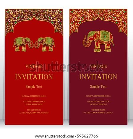 Vector Illustration Indian Wedding Invitation Card Vector – Indian Invitation Card