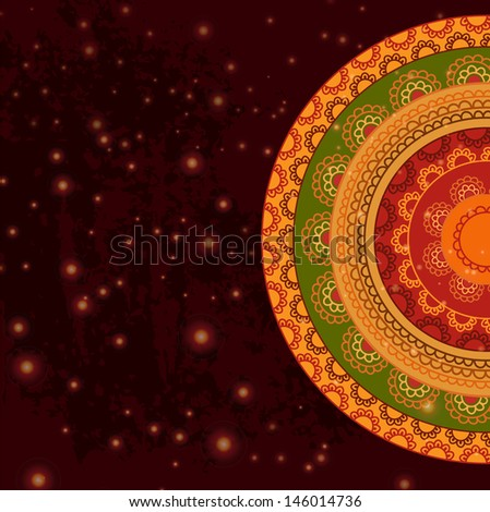 Indian Pattern - Detailed and easily editable - stock vector