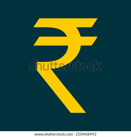 Indian Rupee Currency Sign - stock vector