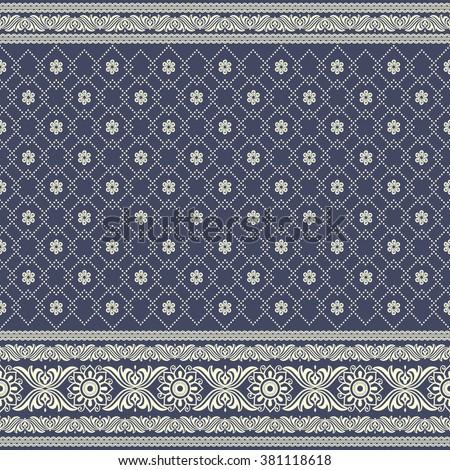 Indian Sari Print Ethnic Boho Seamless Stock Vector ...