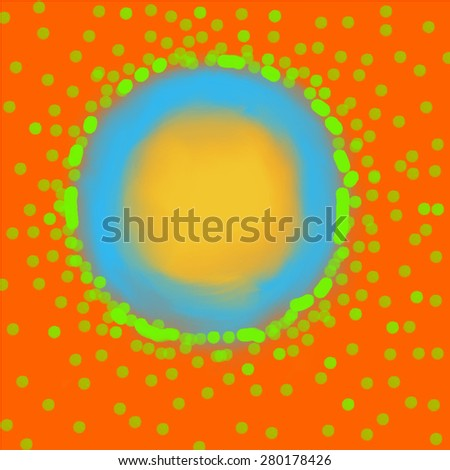 Indian summer. Yoga kundalini sun symbol in lovely colors - stock vector