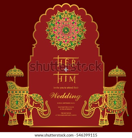 Indian wedding invitation card templates gold stock vector hd indian wedding invitation card templates gold stock vector hd royalty free 546399115 shutterstock stopboris Gallery
