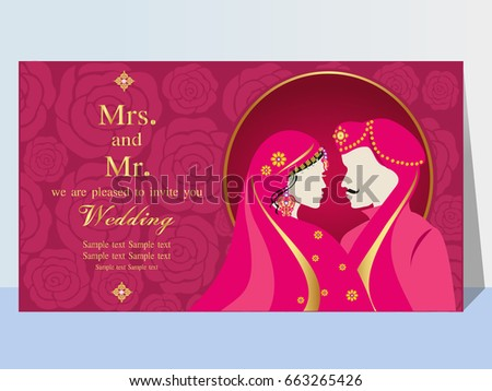 Indian Wedding Invitation Card Abstract Background Vector – Indian Wedding Invitation Card