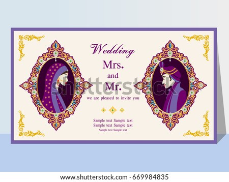 Indian wedding invitation card abstract background template stock indian wedding invitation card with abstract backgroundtemplate frame perfect cards for any other stopboris Image collections