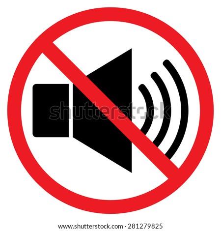 indicating signal noise ban speaker probition stock vector. Black Bedroom Furniture Sets. Home Design Ideas
