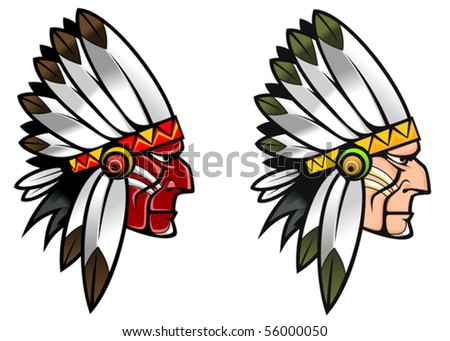 Indigenous people - also as emblem. Jpeg version also available - stock vector
