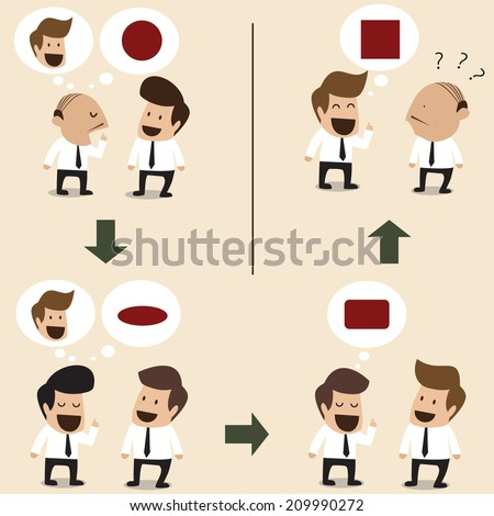 Indirect conversation make wrong result - stock vector