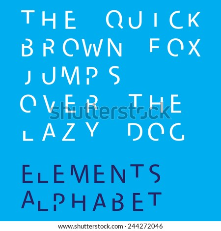 Individual Alphabet Characters of a Custom Font - Elements Uppercase  - stock vector