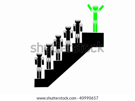 individual stairs - stock vector