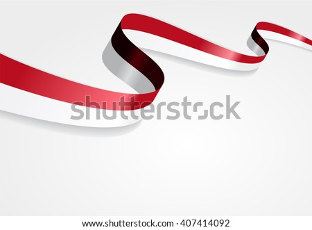 Indonesian flag wavy abstract background. Vector illustration. - stock vector