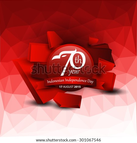 Indonesian Independence Day Logo. Vector illustration concept  - stock vector