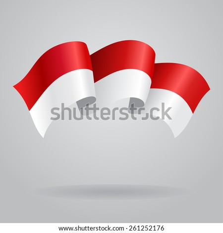 Indonesian waving Flag. Vector illustration Eps 8. - stock vector