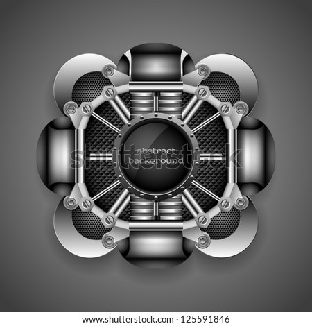 Industrial abstract background, eps10 - stock vector