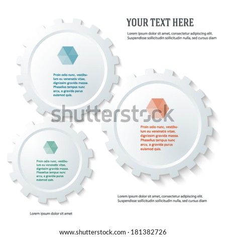 Industrial abstract design elements on white background. Vector illustration eps 10. Can use for business workflow layout, web design, booklet cover, banner template, page advertising brochure - stock vector