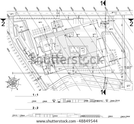 Industrial - architectural work - stock vector